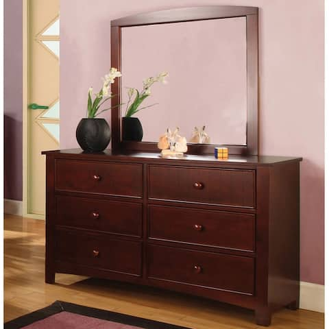 Furniture of America Hae Transitional 2-piece Dresser and Mirror Set
