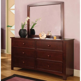 Furniture of America Paraiba 2-Piece Dresser and Mirror Set
