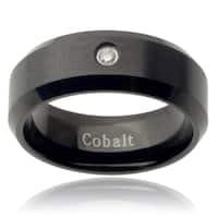 Vance Co. Men's Cobalt Diamond Accent Band (8 mm)