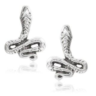 Journee Collection Sterling Silver Snake Stud Earrings