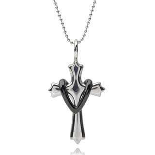 Vance Co. Men's Stainless Steel Cross Pendant