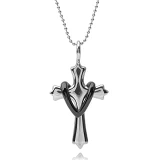 Vance Co. Men's Stainless Steel Cross Pendant|https://ak1.ostkcdn.com/images/products/9427312/P16613713.jpg?impolicy=medium