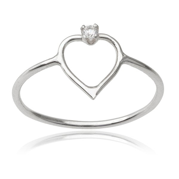 Journee Collection Sterling Silver Cubic Zirconia Handcrafted Ring