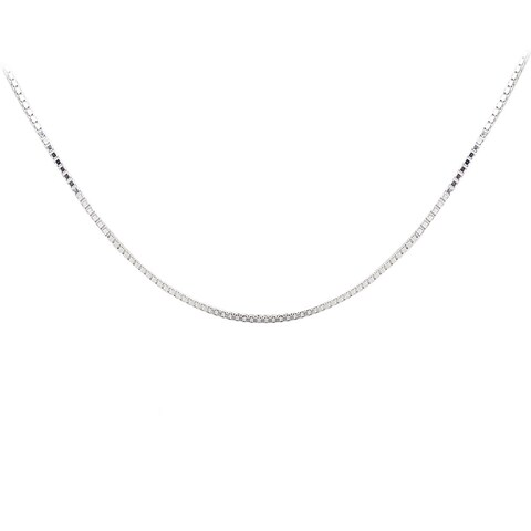Mondevio High Polish 1.45mm Square Box Chain Necklace