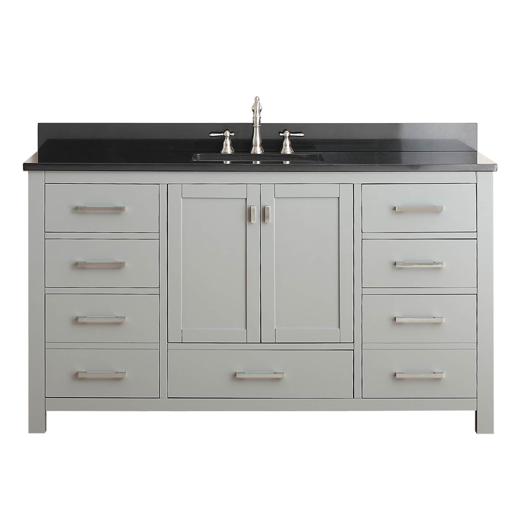 Avanity Modero Chilled Grey 60 Inch Single Vanity Combo (2 Options  Available)