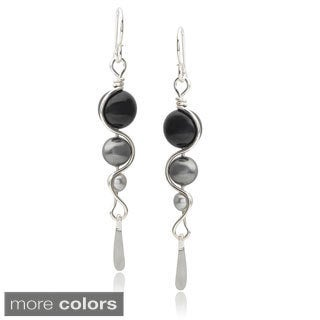 Journee Collection Sterling Silver Handcrafted Drop Earrings