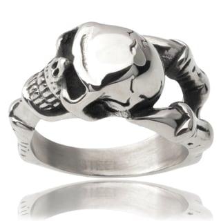 Vance Co. Men's Stainless Steel Skull Ring