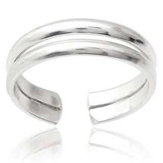 Journee Collection Sterling Silver Handcrafted Adjustable Toe Ring