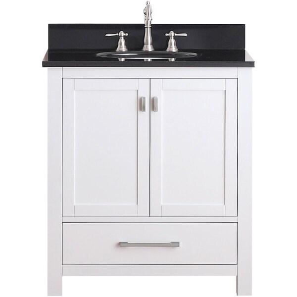Shop Avanity Modero 30-inch White Finish Vanity Combo - Free ... on vessel sink vanities combo, 30 inch bathroom chair, home depot vanity sink combo, 30 inch medicine cabinets, corner vanity and sink combo, 36 inch vanity combo, lowe's bathroom vanities combo, top sales and vanity combo, 30 inch hdtv, 30 inch bathroom mirror, 30 inch bathroom vanities, 30 inch vanity countertops, small vanity with top combo, 30 inch vanity with doors, 30 inch vanity home depot, 30 inch range hoods under cabinet, foremost vanity combo, 30 inch vanity base, 30 inch sink vanity, 30 inch flat screen tv,