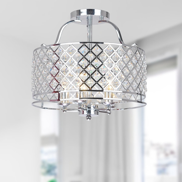 Flush Chandelier Evelyn chrome and crystal flush mount ceiling chandelier free evelyn chrome and crystal flush mount ceiling chandelier audiocablefo