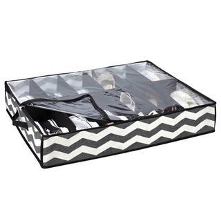 The Macbeth Collection Chevron Printed Under-the-Bed Shoe Box