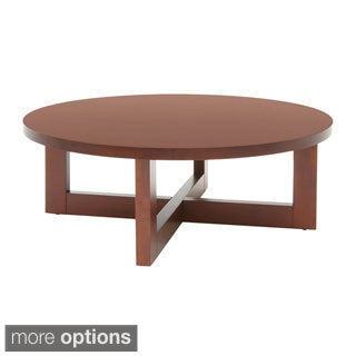 Regency 37-inch Chloe Round Veneer Coffee Table (Option: Cherry Finish)