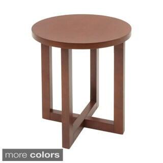 Regency 21-inch Chloe Round Veneer End Table