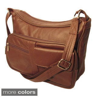 Genuine Top Grain Leather Concealed Carry Shoulder/ Messenger Bag CCW