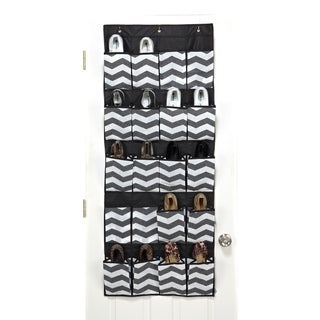 The Macbeth Collection Chevron Printed 20-pocket Shoe Organizer