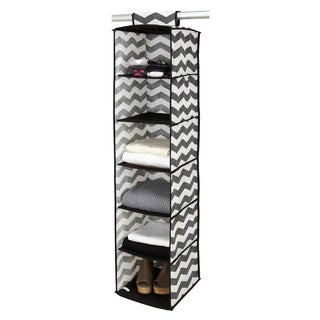 The Macbeth Collection Chevron Printed 6-shelf Organizer