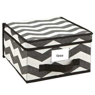 The Macbeth Collection Medium Chevron Printed Storage Box