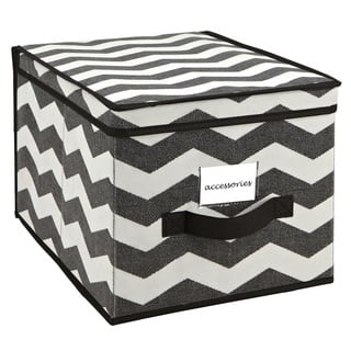 The Macbeth Collection Large Chevron Printed Storage Box|https://ak1.ostkcdn.com/images/products/9427562/P16613940.jpg?impolicy=medium