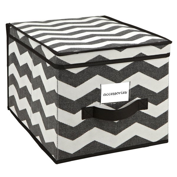 The Macbeth Collection Large Chevron Printed Storage Box Free