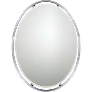 Quoizel Uptown Ritz Polished Chrome Small Mirror