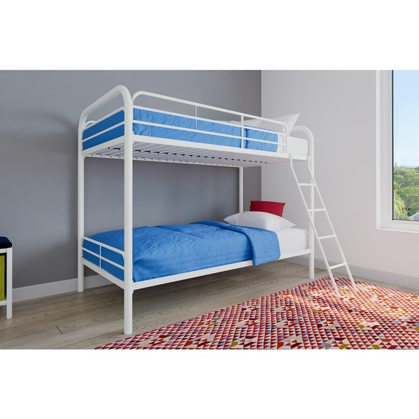 Shop Avenue Green Edison Twin Over Twin Metal Bunk Bed Free