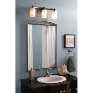 Quoizel Taylor Antique Nickel Large Mirror