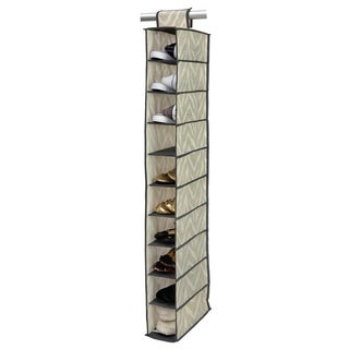 The Macbeth Collection Natural Zebra 10-shelf Shoe Organizer