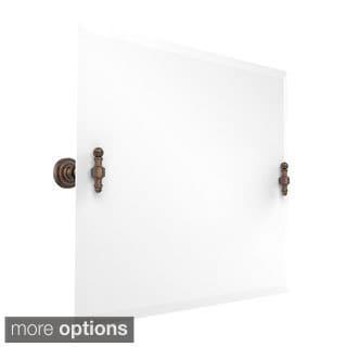 Retro Dot Framless Beveled-edge Rectangular Landscape Tilt Wall Mirror