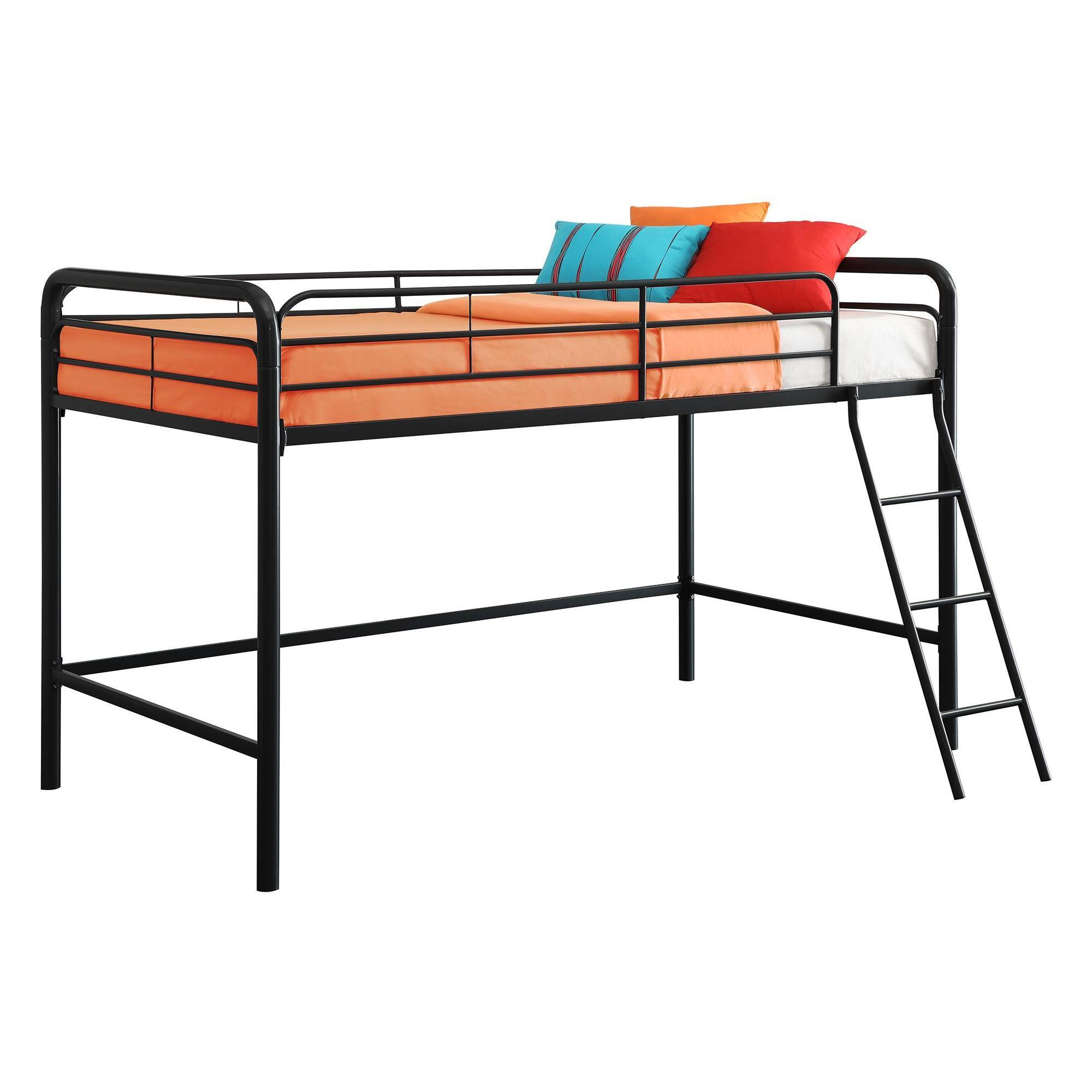 Black Dhp Junior Loft Bed Frame With Ladder
