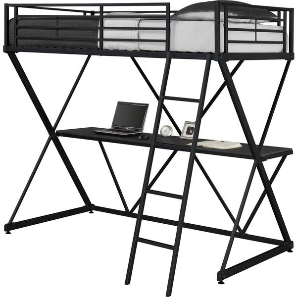 dhp x-loft metal bunk bed - free shipping today - overstock