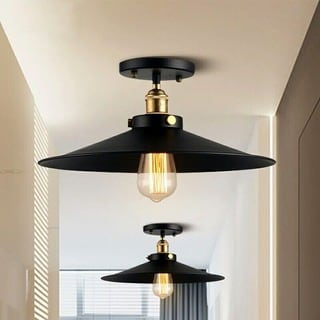 Candice 1-light Black Edison Lamp with Bulb
