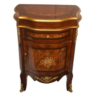 Sorrento Inlaid Wood Inspired Wall Cabinet with Drawer and Door
