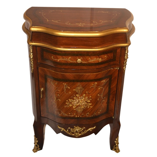 Shop Sorrento Inlaid Wood Inspired Wall Cabinet With