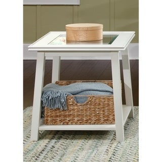 Summerhill White Square End Table