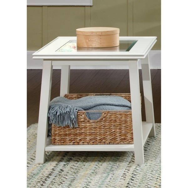 Liberty Summerhill White Square End Table