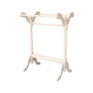 International Concepts Unfinished Parawood Quilt Rack - N/A