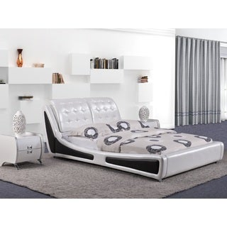 Victoria White Contemporary Platform Bed