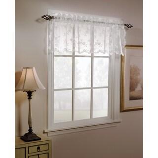 Saturday Knight LTD Lace Flowers White/Ivory Window Valance