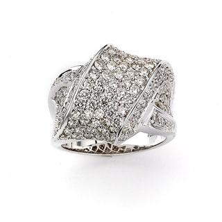 Neda Behnam 18k White Gold Criss-cross Diamond Ring (G-H, SI1-SI2)