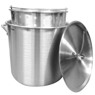 80-quart Aluminum Stock Pot and Strainer Set