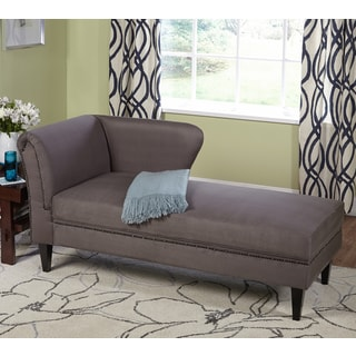 Simple Living Jaz Grey Storage Chaise