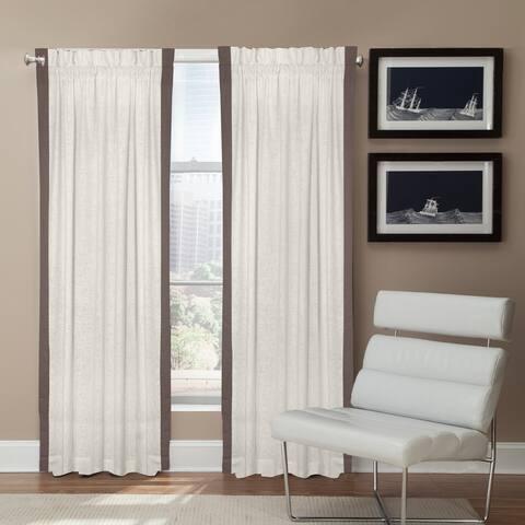 Veratex Linen Central Park Rod Pocket Single Curtain Panel
