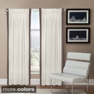 Grand Luxe Linen Central Park Rod Pocket Curtain Panel