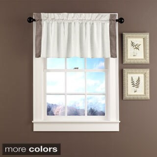 Grand Luxe Linen Central Park Tailored Window Valance