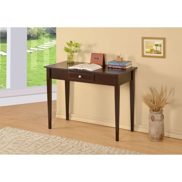 William S Home Furnishing Bodai Espresso 1 Drawer Desk