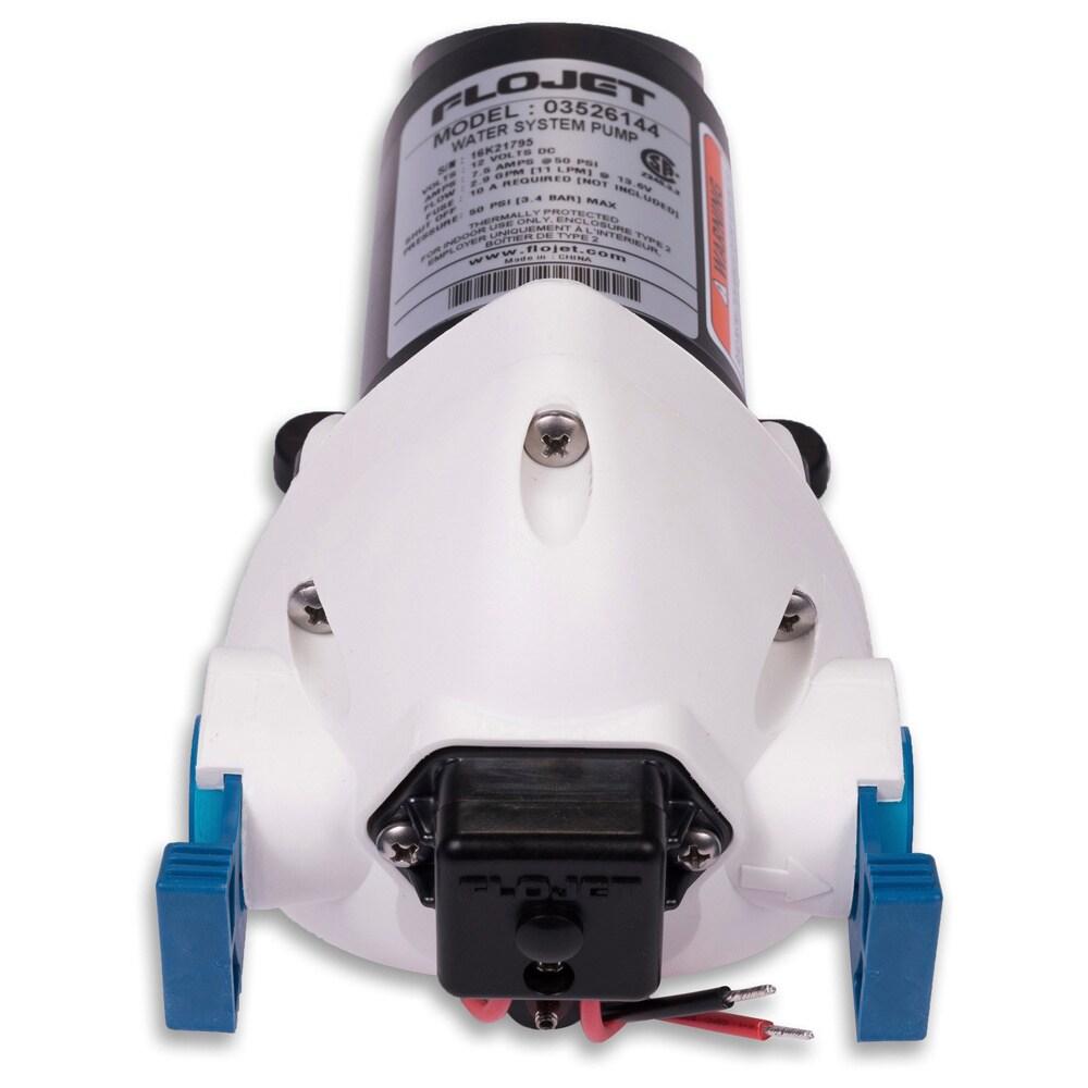 Flojet 2.9 GPM 50 PSI Water Pump (Color), Black