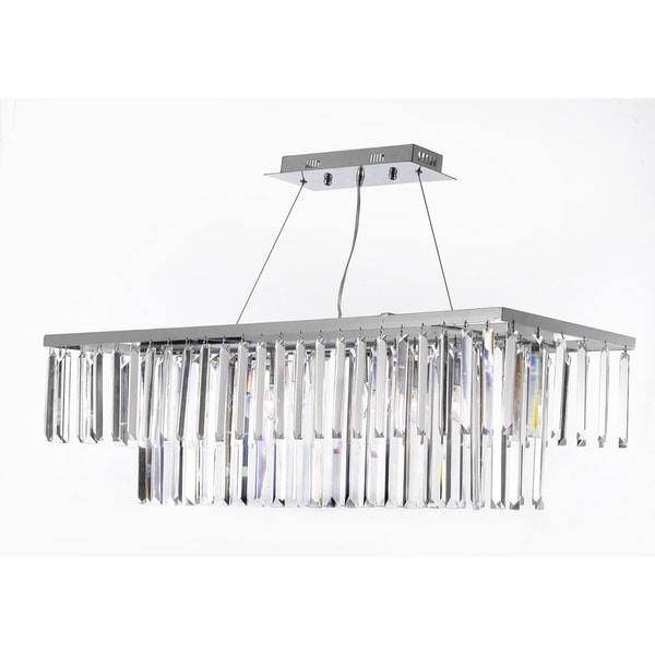 Crystal Chandelier Rectangle: Shop Gallery Contemporary 8-light Crystal Modern