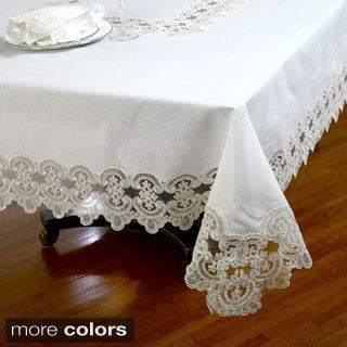 No-Iron Embroidered Lace Table Cloth or Napkins (Set of 6)