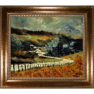 Pol Ledent 'Sechery in Autumn ' Framed Fine Art Print