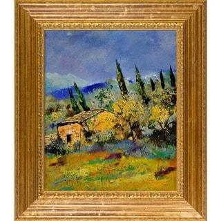 Pol Ledent 'Provence 452181 ' Framed Fine Art Print